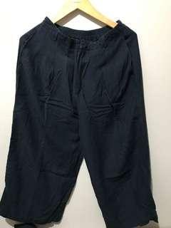 Celana Kulot GU brand jepang size XL belakang pinggang karet