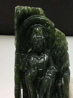 🚚 Nephrite Jade Guan Yin Statue