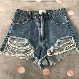 ABRAND denim shorts!