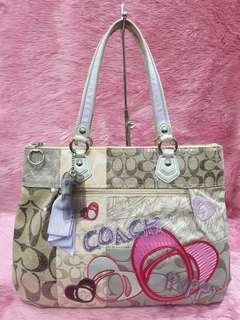 Coach Poppy Patchwork Gram Multicolored Shoulder Bag