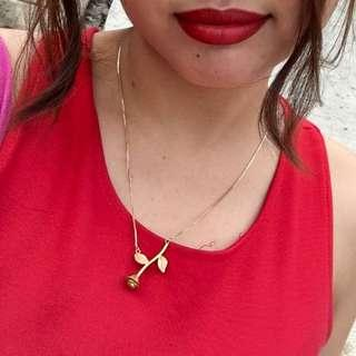 Beauty and the Beast inspired Gold Necklace
