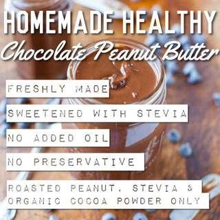 Healthy homemade chocolate peanut butter sweetened with stevia 360g #MakeSpaceForLove