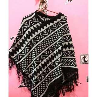 Batwing Ponco Sweater