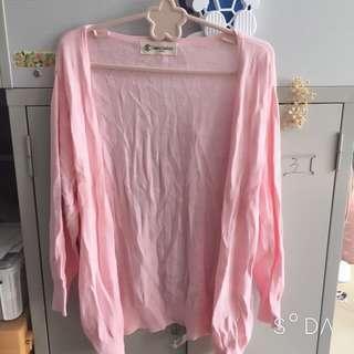 🚚 粉色圓點針織外 #半價衣服市集 套