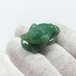 🚚 Natural Type A Jadeite Three Leg Toad