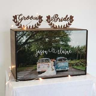 [Rental] Custom Double Compartment Angbao Wedding Box (with Couple's Photo)