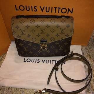 Authentic Louis Vuitton LV Bag Monogram Pochette Metis Reverse
