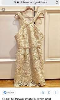 Gold Lace Dress by Club Monaco