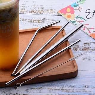 🚚 Eco-Friendly, Clean and Reusable Stainless Steel Straw Set