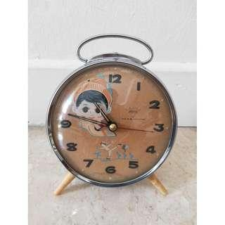 Old Vintage Antique Clock With Moving Eyes