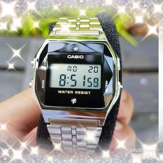 Diamond Casio Guarantee 100% Brand New authentic Casio watch or Full refund.  Made in Japan Natural diamonds Casio Watch ( 1 available only ) A159WAD 1DF, A159, A159 WAD, A159WAD,  vintage design Unisex watch on https://youtu.be/-PULDsx3_YQ,  F91w