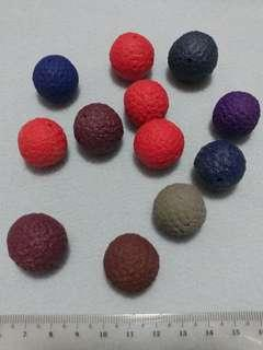 [Clearance/ Sales] Colourful Round Ball Charm Set for Bracelet/ Necklace etc - DIY/ Handmade/ Craft Accessories/ Women Fashion