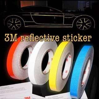 Reflective strip sticker