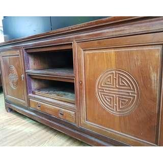 Sold Wood TV Console