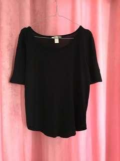 H&M 3/4 black sleeves tee