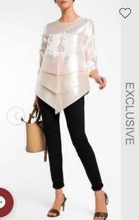 Mimpi Kita X Fashionvalet Button Up Tiered Peplum Blouse