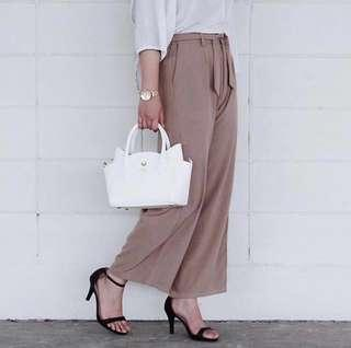 Culottes in dusty pink
