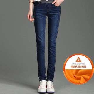 Ladies Winter Thermal Jeans Pant