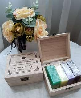 BN Mother's Day Aromatic Essential Oil Soap Gift Set - Bulgarian rose Lavender  Aloe Vera Jasmine
