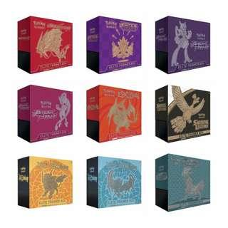 Looking for any Pokémon elite trainer boxes