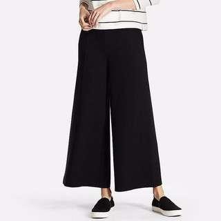 Uniqlo Wide Leg Flare Pants Black M