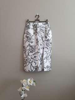 Osmose floral pencil skirt