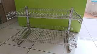 2 tier Dish Rack 304 Stainless steel