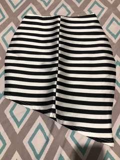 Stripe Assymetrical Skirt