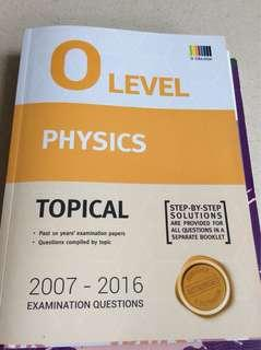 O level topical ten year series tys