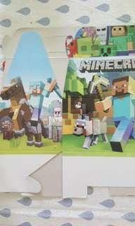 Minecraft party favour boxes and paper bags