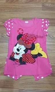 Kaos Mickey pink