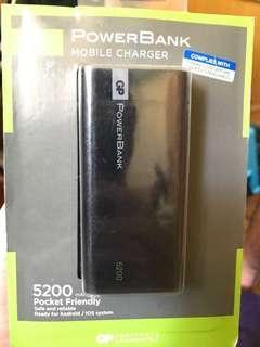 🚚 GP Power bank 5200mah brand new
