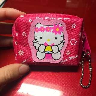 🚚 桃紅色hello kitty 小零錢包