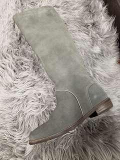 Womens UGG grey equestrian suede boots new 6 ½