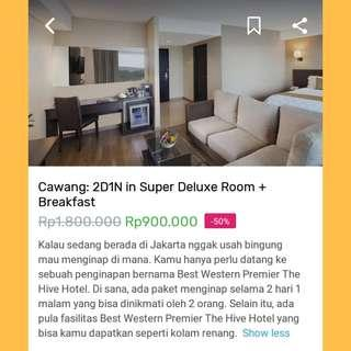 Voucher Discount 50% - Hotel Best Western Premier The Hive Jakarta
