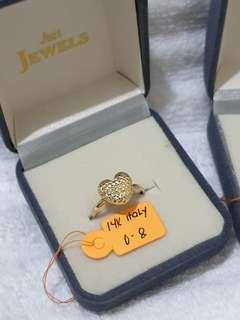 Pre-loved 14k Yellow Gold Heart Ring