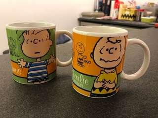 Peanuts cups 花生漫畫 Charlie Brown Linus (60th anniversary limited edition)