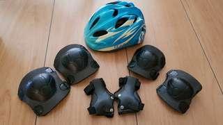 Bicycle helmet & knee pad