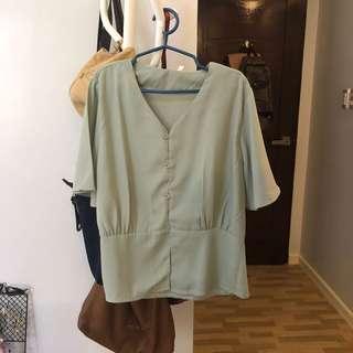 Pastel green blouse
