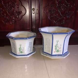 2 flower pot $35