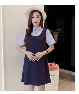 Blue Maternity Pregnant Dress