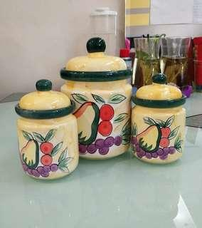 HANDMADE Cannister Ceremic Jars with Lids