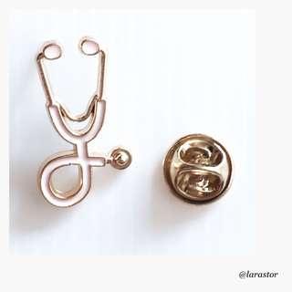 🚚 Bn stethoscope enamel pin