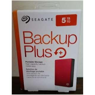 Seagate Backup Plus Portable Drive 5TB- Red