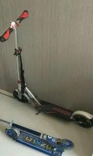 2 adult kick scooters