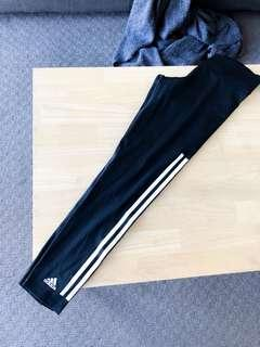 ADIDAS climalite tights/leggings, 7/8 length, SIZE S, 3 stripes