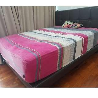 MOVING OUT SALE#6 - QUEEN BED + BED FRAME  - SOLD OUT