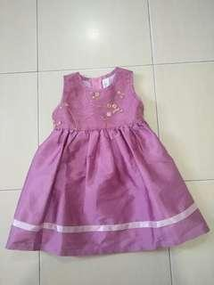 J Baby girl pricess Dress (1- 2 years old)
