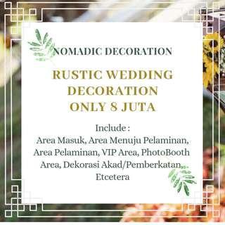 Dekorasi Pernikahan Rustic Jakarta