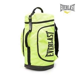 Everlast 拳擊包 後背包 登山包 黑色 / 螢光黃